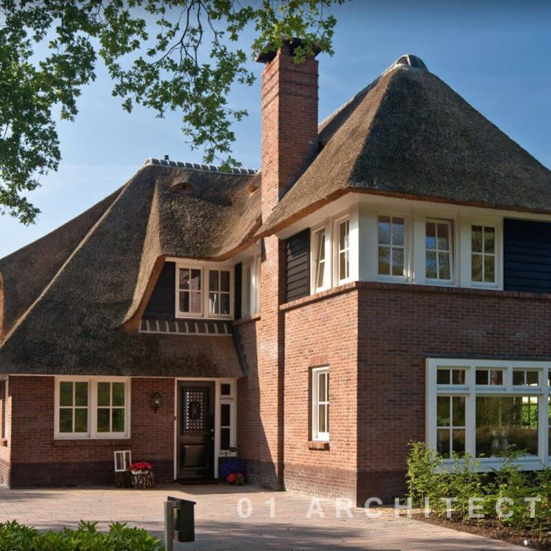 Villa riet klassiek veldekster in Ughelen te Gelderland