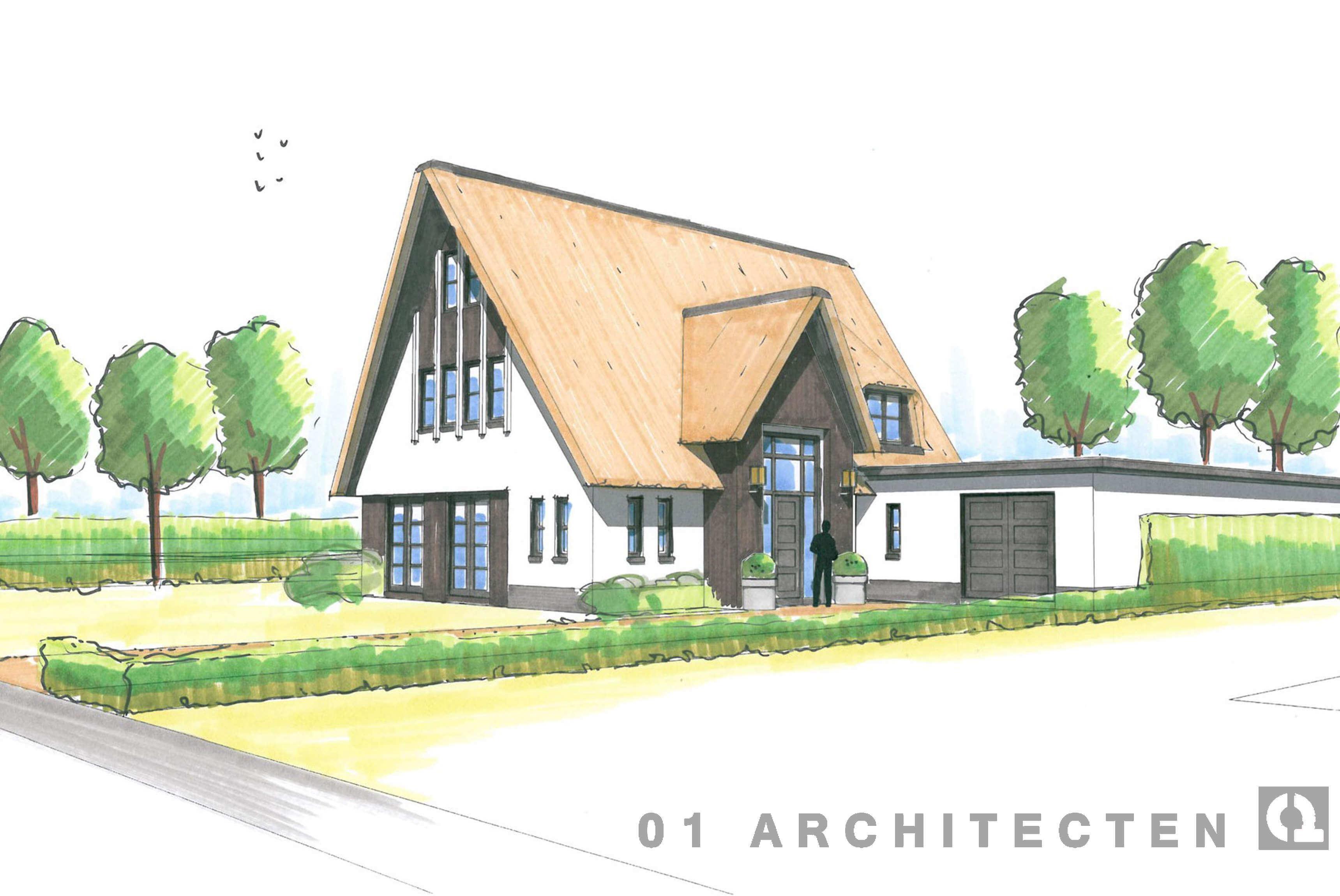 Inspirerende woning en villa schetsen door 01 architecten for Eigentijdse buitenkant