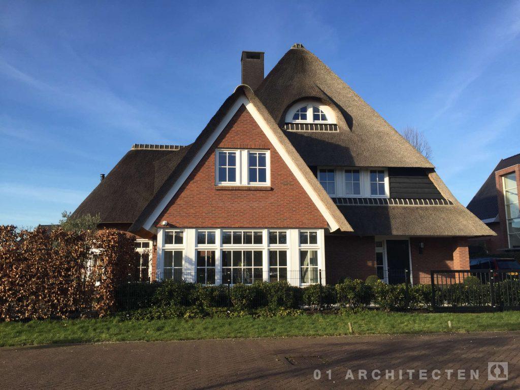 nieuwbouw jaren 30 villa met riet De Meern Utrecht