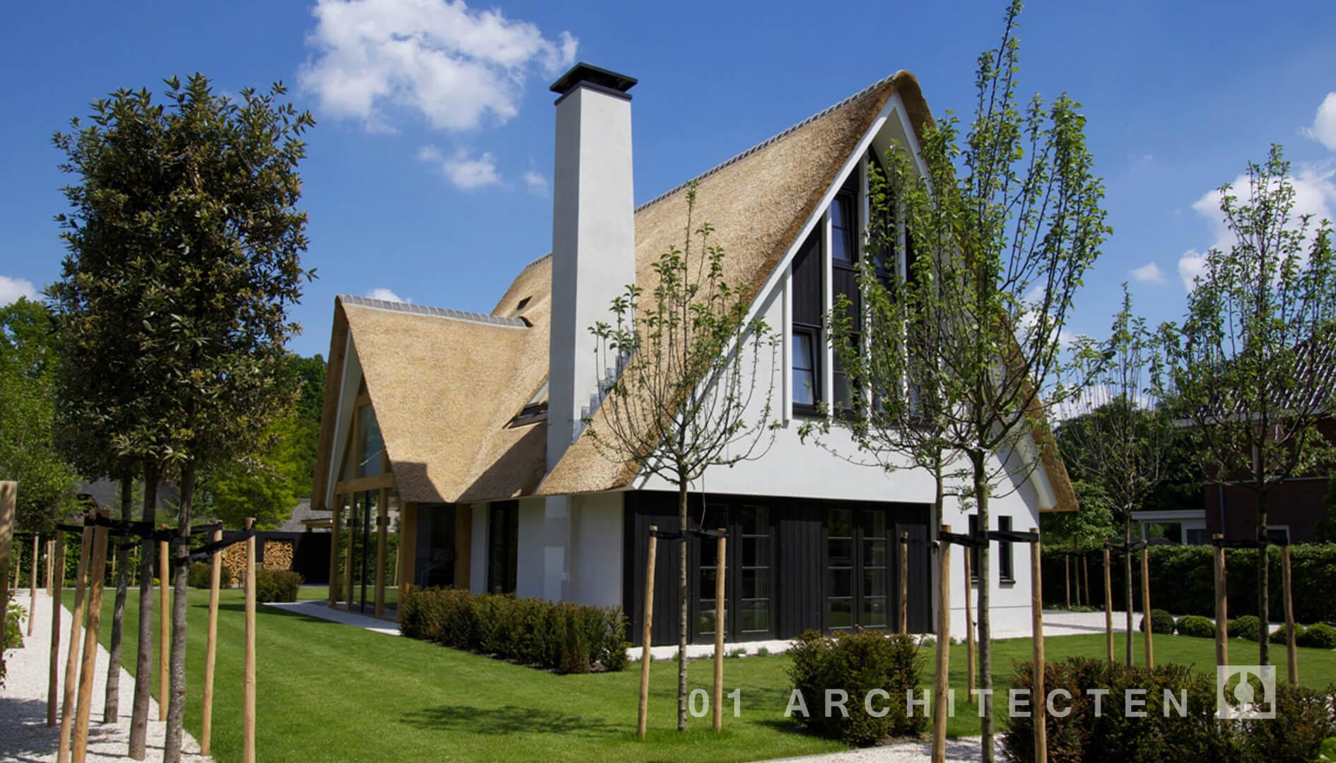 Nieuwbouw woningen en villa 39 s door 01 architecten - Moderne kleur huis ...