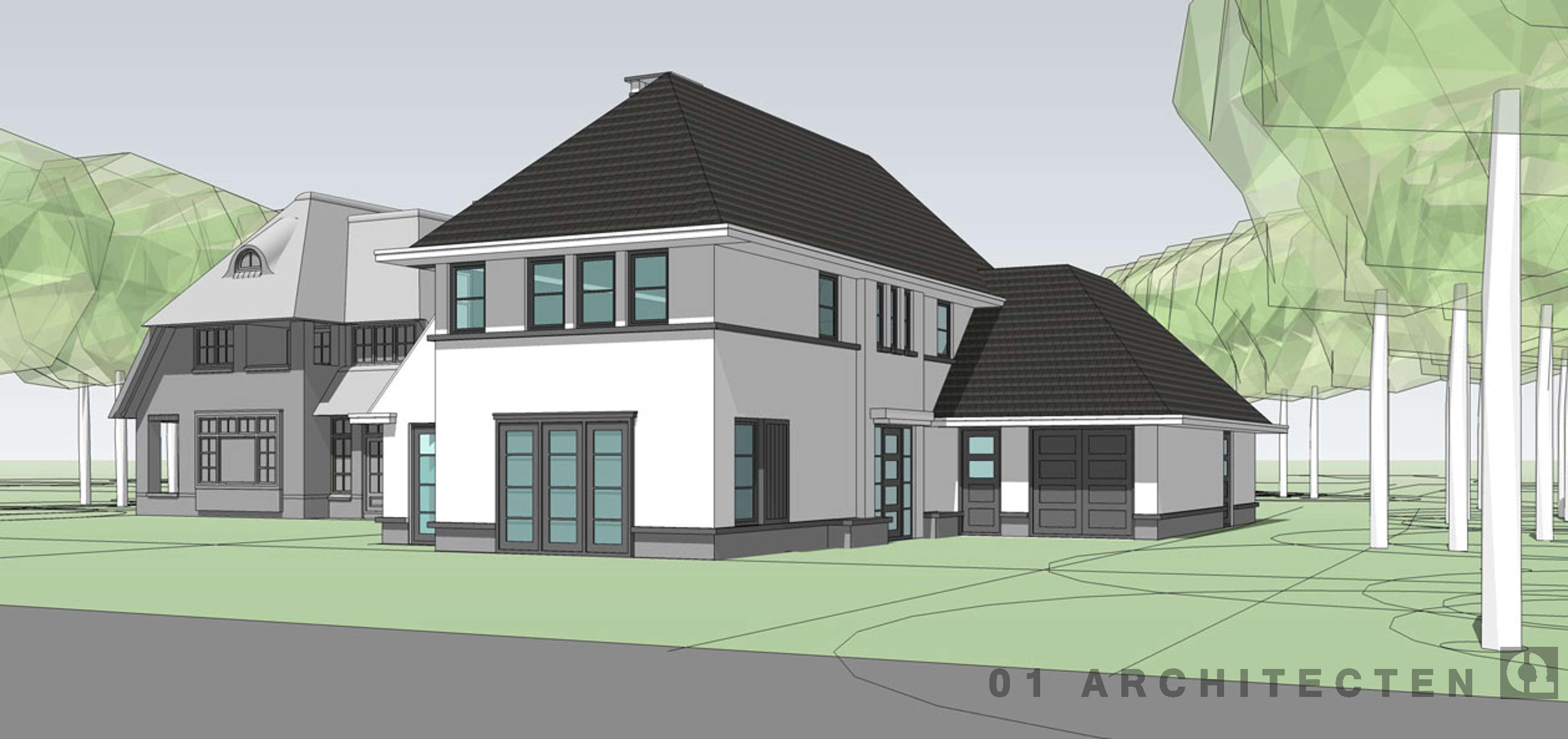 Inspirerende woning en villa schetsen door 01 architecten for Modern herenhuis