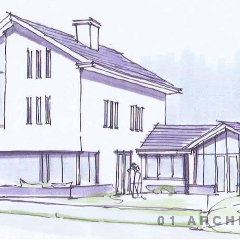 Witte villa zwarte kozijnen Den Bosch