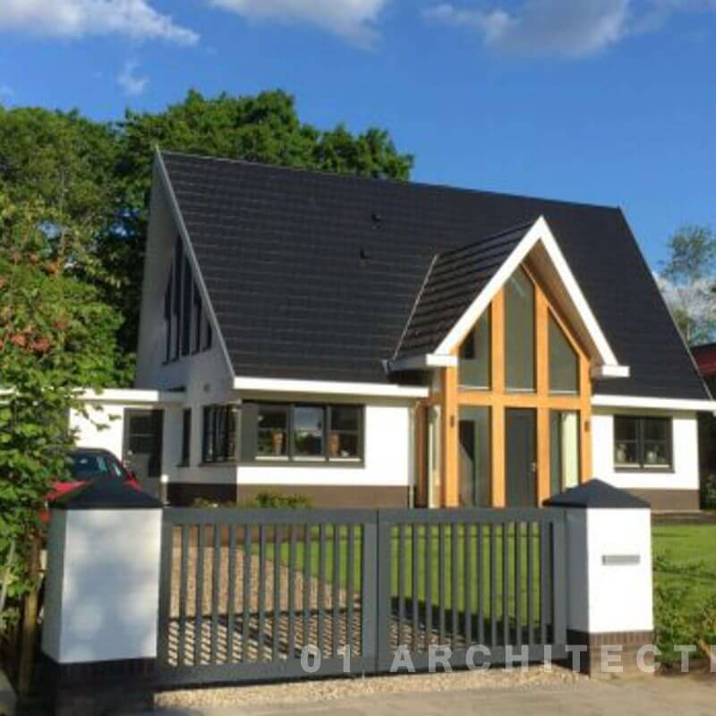 Nieuwbouw moderne villa eikenhouten villa in Nijverdal