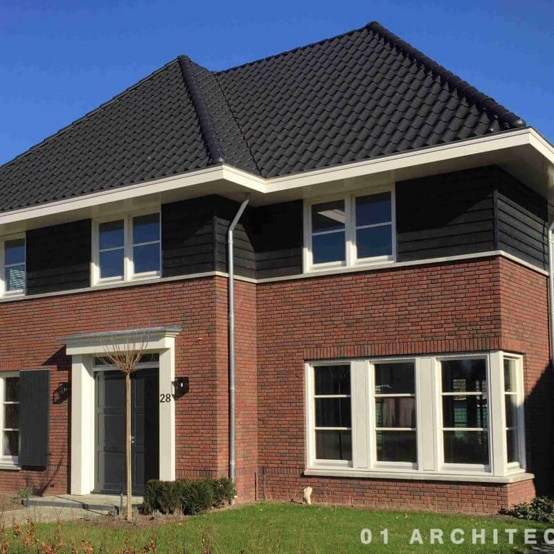 nieuwbouw jaren 30 villa Brabant rode steen donker hout pannen 01 architecten Nijverdal