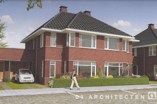 Twee onder één kap woning te Tilburg Architectuur 30er jaren stijl 01 Architecten zakelijk