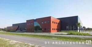 Bedrijfspand Buiting Staalbouw op het XL-Park te Almelo, gebouwd door Hegeman Aannemingsmij te Nijverdal 01 Architecten zakelijk