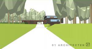 Landgoedwoning op landgoed Schuilenburg te Hellendoorn, vormgegeven als moderne villa 01 Architecten zakelijk