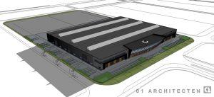 Nieuwbouw bedrijfspand Broeze Nijverdal op industrieterrein't Lochter III te Nijverdal 01 Architecten zakelijk