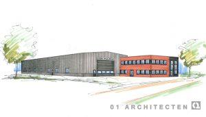 Nieuwbouw bedrijfspand te Almelo in opdracht van Evers Staalbouw 01 Architecten zakelijk