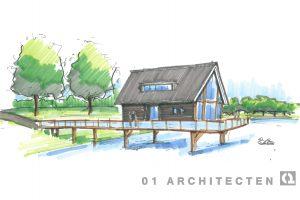 Recreatiewoning op het water 01 Architecten zakelijk