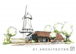 Schetsopzet nieuwbouw Apotheek en Medisch Centrum te Hellendoorn 01 Architecten zakelijk
