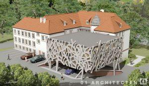 Studie uitbreiding raadhuis 01 Architecten zakelijk