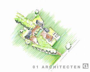 Landgoedwoning Vogelvlucht 01 Architecten zakelijk