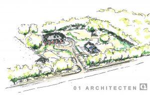 Vogelvlucht landgoedontwikkeling te Almelo 01 Architecten zakelijk