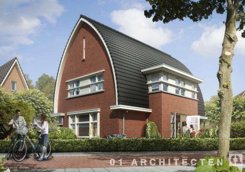 Vrijstaande woning met gebogen dak te Nijverdal 01 Architecten zakelijk