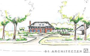 Perspectiefschets landgoedontwikkeling te Almelo 01 Architecten zakelijk