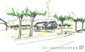 Perspectiefschets schuurwoning te Azelo 01 Architecten zakelijk