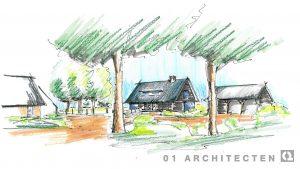 perspectiefschets schuurwoningen 01 Architecten zakelijk