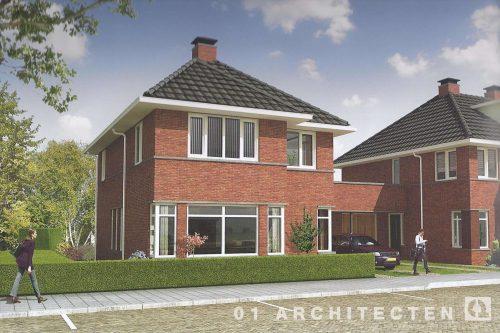 Vrijstaande woningen te Tilburg 30er jaren architectuur 01 Architecten zakelijk