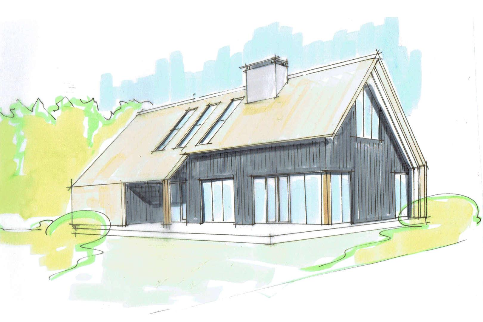 Sfeervolle schuurwoning met riet op het dak en donkere houten gevel te Harderwijk