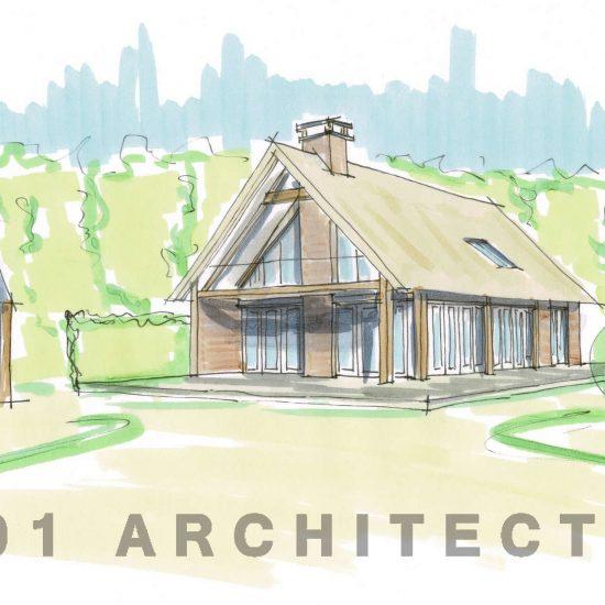 Moderne schuurwoning, buitengebied Hellendoorn, eiken balken, rietenkap, eigentijds, 01 architect