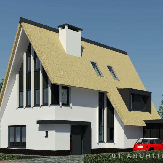 moderne villa Leusden riet