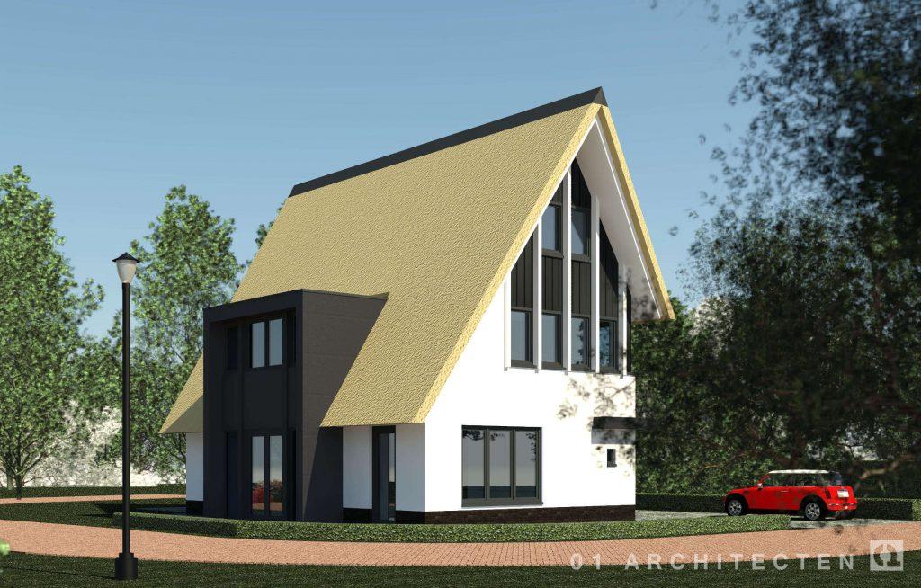 Moderne nieuwbouw villa met riet 01 architecten for Zelf woning ontwerpen