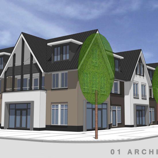 afbeelding ontwerp luxe appartementengebouw Dorpsstraat Diepenveen 01architecten
