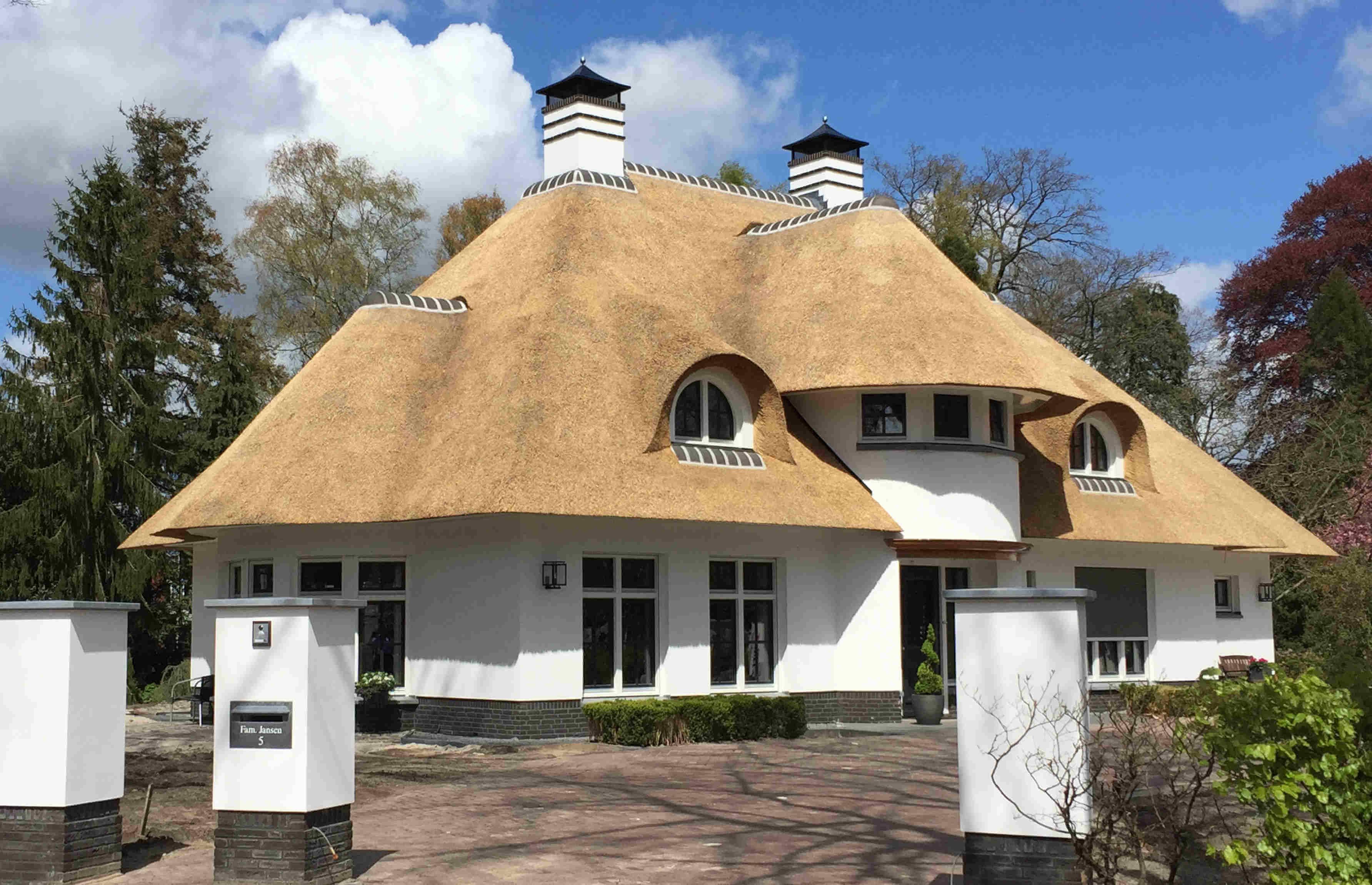 Riet als dakbedekking architecten