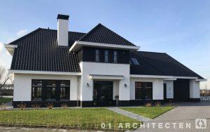 Villa nieuwbouw Culemborg zwarte kozijnen