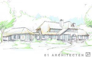 landhuis met bijgebouwen en uitbouwen