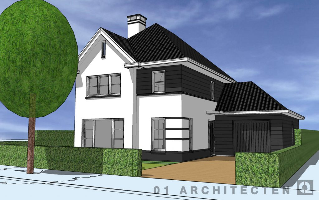 ontwerp verfijning nieuwbouw kleur wit