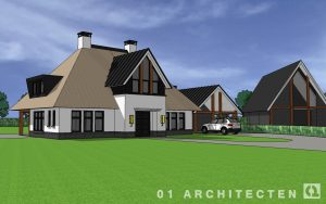 modern landhuis met riet