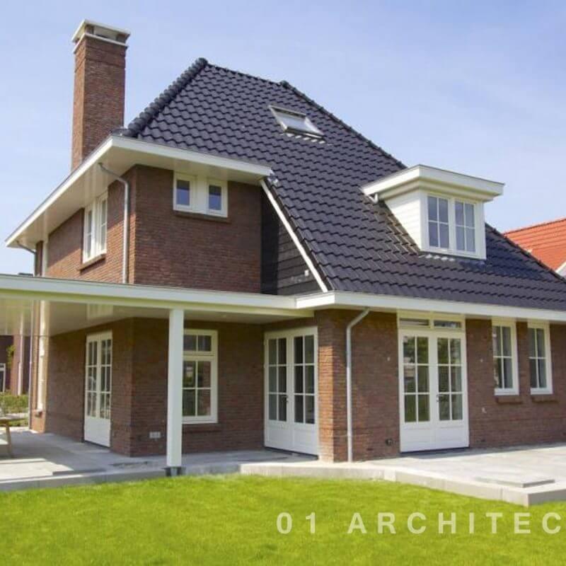 Jaren-30-villa-Delft-met-verspringende-goothoogte-veranda-schoorsteen-witte-kozijnen-en-dakkapel_01ARCHITECTEN