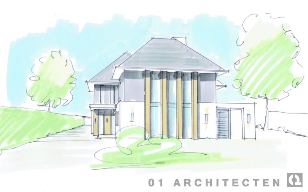 robuuste moderne nieuwbouw villa
