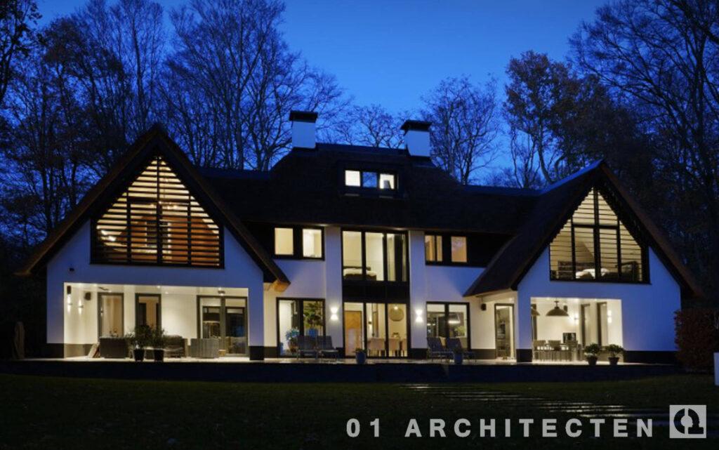 villa nieuw lamellen wit riet